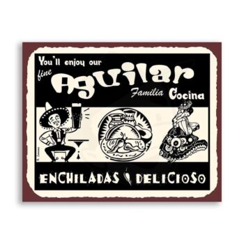 Custom Mexican Cuisine Kitchen Familia Cocina Retro Kitchen Tin Sign