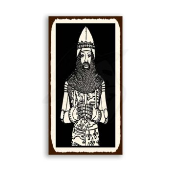 Knight In Chainmail Medieval Metal Art Retro Tin Sign