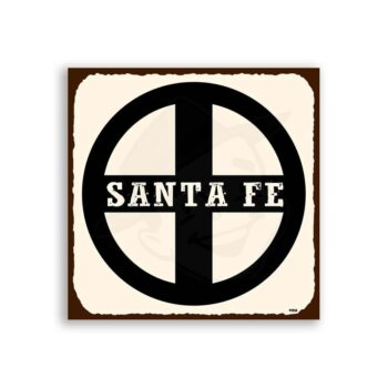 Santa Fe  Vintage Metal Train Retro Tin Sign