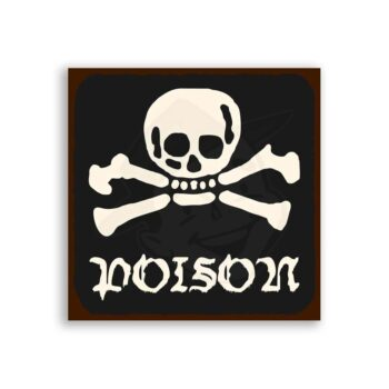 Poison Bones Vintage Metal  Retro Tin Sign