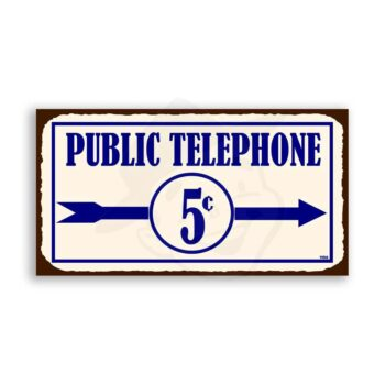 Messenger Telephone Vintage Metal Art Service Retro Tin Sign