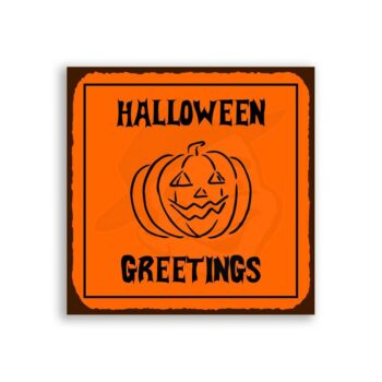 Halloween – Halloween Pumpkin Vintage Metal Art Retro Tin Sign