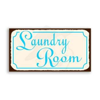 Laundry Room Vintage Metal Art Retro Tin Laundry Cleaning Sign