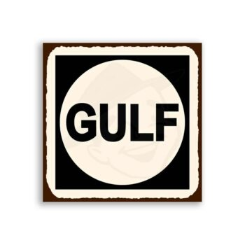 Gulf Vintage Metal Art Automotive Oil Retro Tin Sign