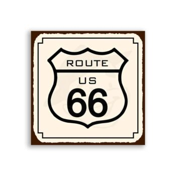 Route 66 Vintage Metal Art Automotive Retro Tin Sign
