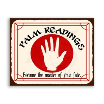 Master of Fate Palm Readings Vintage Metal Art Retro Tin Sign