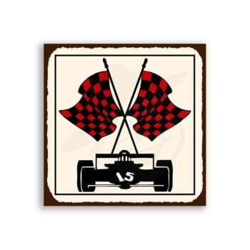 Race Car 15 Vintage Metal Art Car Retro Garage Tin Sign