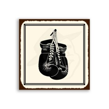Boxing Gloves Vintage Metal Art Sports Retro Tin Sign