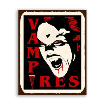 Vampires Halloween Vintage Metal Art Retro Tin Sign