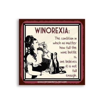 Winorexia Mini Vintage Tin Sign