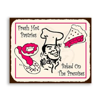 Pastry Chef Vintage Metal Art Retro Tin Sign