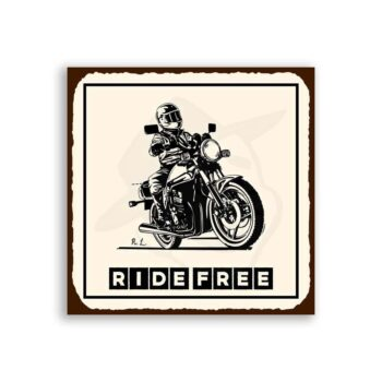 Motorcycle Ride Free Vintage Metal Art Motorcycle Retro Tin Sign