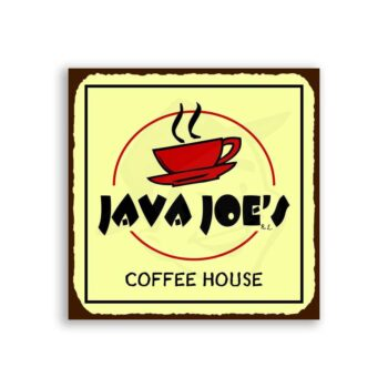 Java Joes Coffee House Vintage Metal Art Cafe Diner Retro Tin Sign