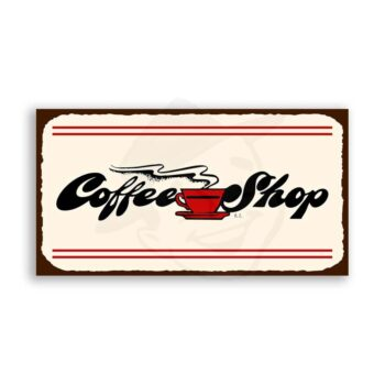 Coffee Shop  Vintage Metal Diner Retro Tin Sign