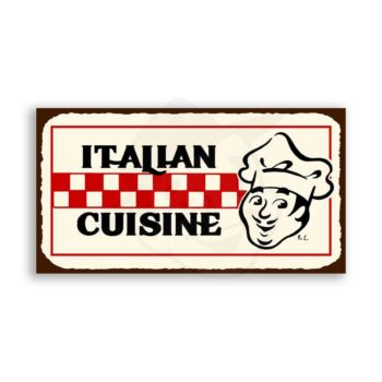 Italian Cuisine Vintage Metal Art Italian Pizzeria Retro Tin Sign