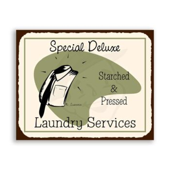 Laundry Special Deluxe Vintage Metal Art Cleaning Retro Tin Sign