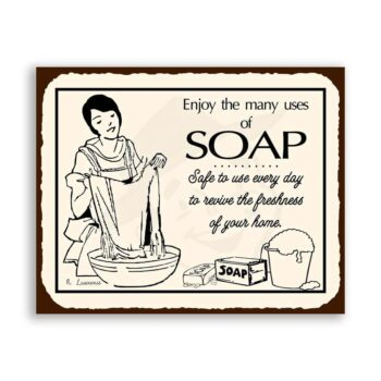 Soap Vintage Metal Art Laundry Cleaning Retro Tin Sign
