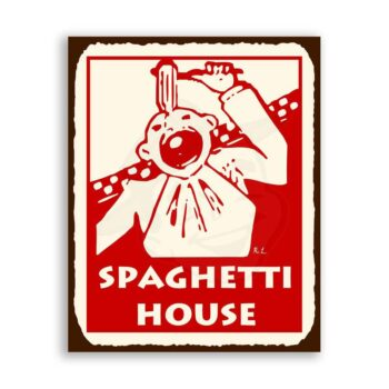 Spaghetti House Vintage Metal Art Italian Pizzeria Retro Tin Sign