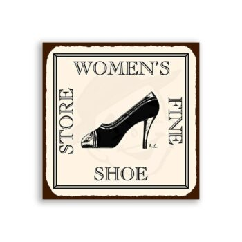 Womens Fine Shoe Store Vintage Metal Clothing Shoe Retro Tin Sign