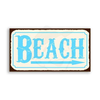Beach Vintage Metal Art Retro Tin Sign