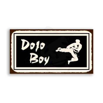Dojo Boy Vintage Metal Art Karate Retro Tin Sign