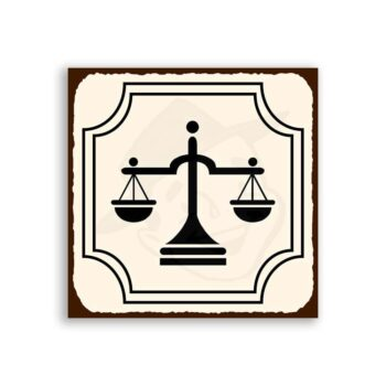 Justice Scales Vintage Metal Lawyer Retro Tin Sign