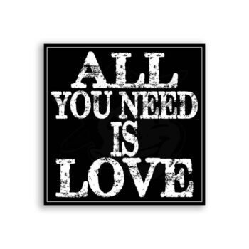 All You Need Is Love Typography Subway Vintage Metal Art Sign