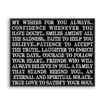 My Wishes For You Always Typography Subway Vintage Metal Art Sign