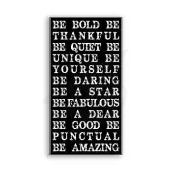 Be Bold Be Amazing Typography Subway Vintage Metal Art Sign
